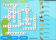 game vui hoc tieng anh - animal zoo