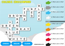 Colors crossword