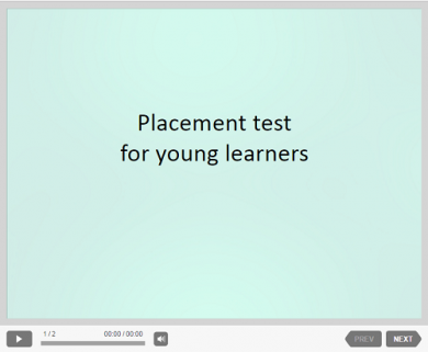 Placement test for young learners